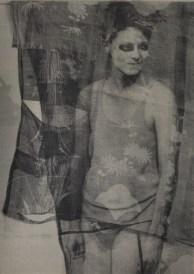 David Noonan. Untitled, 2012, silkscreen on linen collage, framed, 203.5 x 145.5 cm. Courtesy Stuart Shave/Modern Art, London