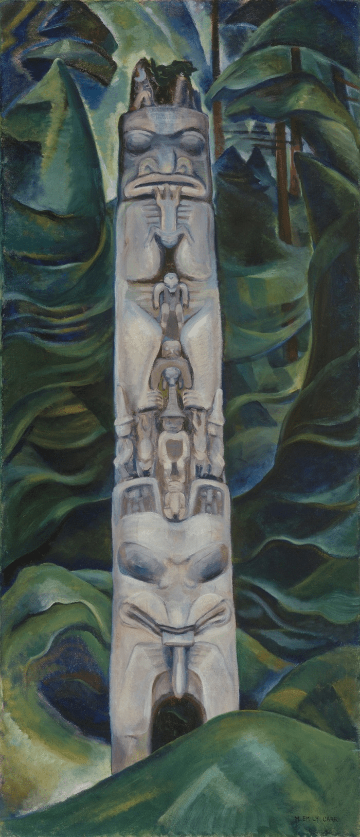 Totem and Forest, 1931. Photograph: Vancouver Art Gallery