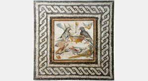 Doves, end of the 1st century BC to start of the 1st century AD. Courtesy Estorick Collection of Modern Italian Art