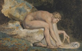 William Blake: Newton, from 1795 (detail). Photo: Philadelphia Museum of Art