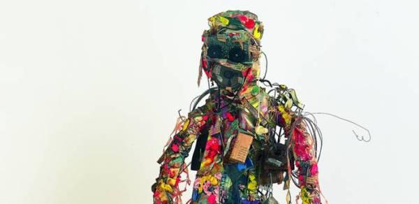 Shinro Ohtake, 'Radio Head Surfer', 1994-95. Courtesy of the artist and Take Ninagawa, Tokyo