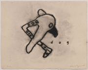 Dog, 2012. Mixed media on paper, 15 1/2 x 18 inches