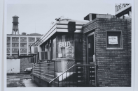 Untitled (Industrial, 13:36A), 1986. Black and white photograph, 23 5/16 x 19 inches