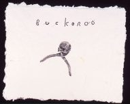 "Untitled (#20, ""Buckaroo""), 2009. Monoprint on hand-made paper, 27 x 32 inches"