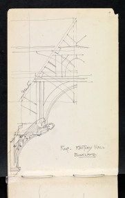 Roof truss, Old Rectory, Buckland, Gloucestershire 1894
