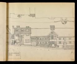Row of houses, High Street, Chiddingstone, Kent 1910