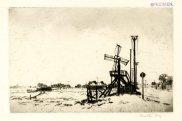 'Old Salt Mill (Southwold),' c. 1914. Drypoint, 136 x 214 mm