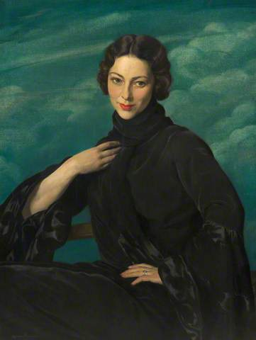 PAULINE. Date painted: c.1930. Oil on canvas, 91.5 x 72 cm. Collection: Rochdale Arts & Heritage Service