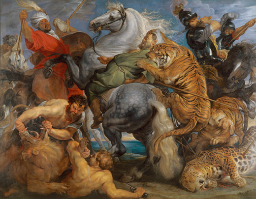 Peter Paul Rubens: Tiger, Lion and Leopard Hunt, 1616