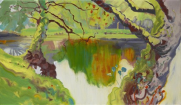 Greenish Deep, Fiona McIntyre, oil on canvas