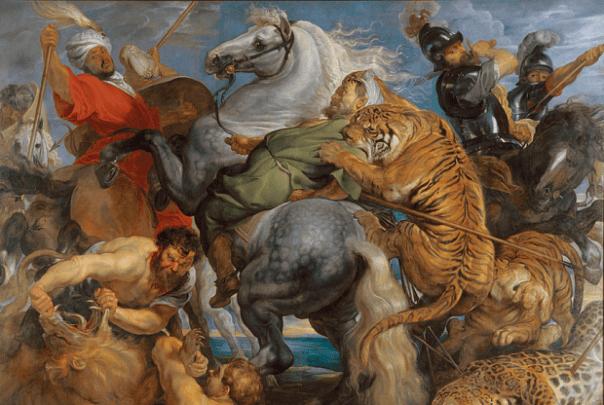 Tiger, Lion and Leopard Hunt (detail), 1617