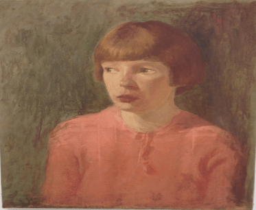 Joseph Higgins, 1885-1925, Portrait of a Girl in Pink, undated. Oil on canvas, 47 x 56 cm. Collection Crawford Art Gallery, Cork