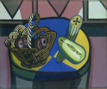Robert MacBryde: Still Life with Basket, 1948. Oil on canvas, 50 x 60 cm. British Council Collection