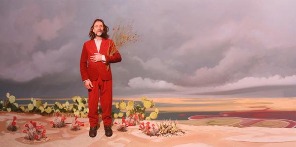 Philip Harris: Arizona Bloom, 2014. 1525 x 3050, oil on Linen.