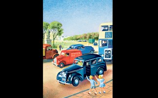 From TOOTLES THE TAXI AND OTHER RHYMES, 1956. Illustration by John Kenney