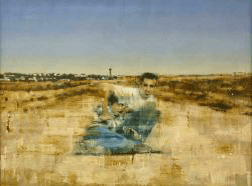 JOHN KEANE Hopeless in Gaza (Road to a Settlement), 2002, 137 x 183 cm, Flowers Gallery