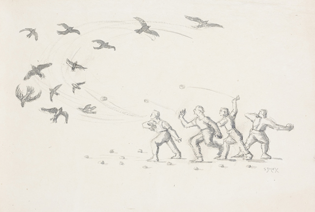 The Stone Throwers, 2005, Courtesy of Kerlin Gallery
