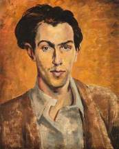 Artist, Self Portrait. Robert Colquhoun, c.1940. Oil on canvas, 41 x 33 cm. National Galleries of Scotland