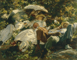 Group with Parasols, c.1904-5. Private Collection