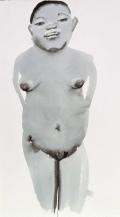 Magdalena 2 1996 Ink on paper image: 1250 x 700 mm Purchased 1996 Marlene Dumas