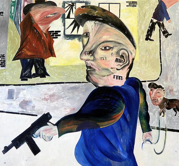 Jock McFadyen: The Street, 1980. Oil on canvas, h. 173 x w. 173 cm