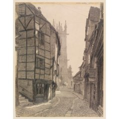 Edward Walker, Fish Street, Shrewsbury. 1943, pencil drawing on paper