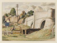 S R Badmin: Stoke Bruerne, Northamptonshire. Watercolour, 1940