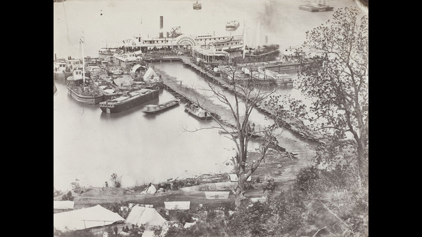 'Landing Supplies on the James River, Virginia' (1863-64), from the studio of Mathew Brady ©Wilson Centre for Photography