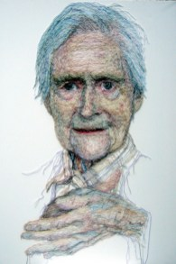 'Mum Rubbing her Hands'. H130 x W90