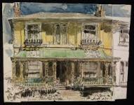 George Hooper: Regency House, Tunbridge Wells, Kent. Pen and ink and watercolour, 1942