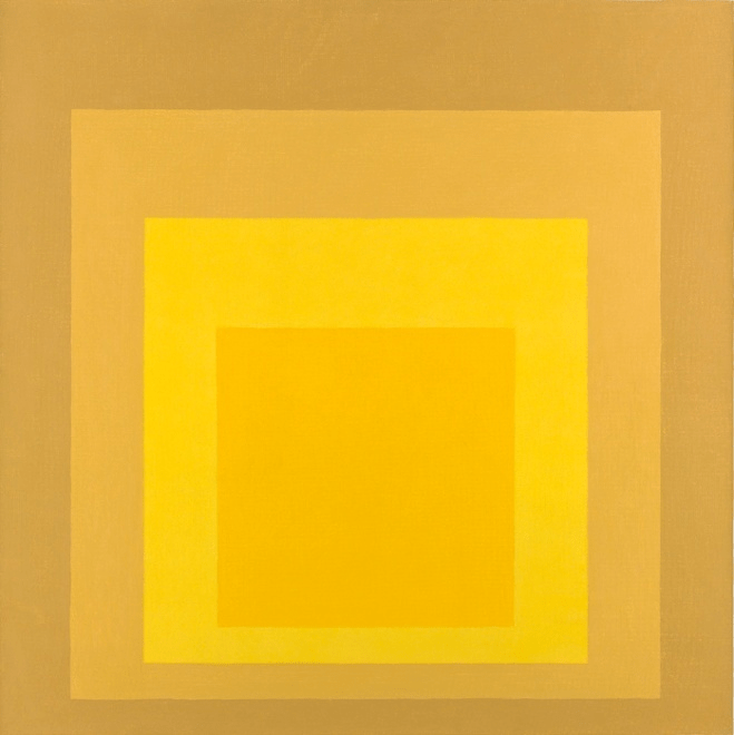 Homage to the Square: Post Autumn, 1963 by Josef Albers. Photograph: Jack Kirkland Collection