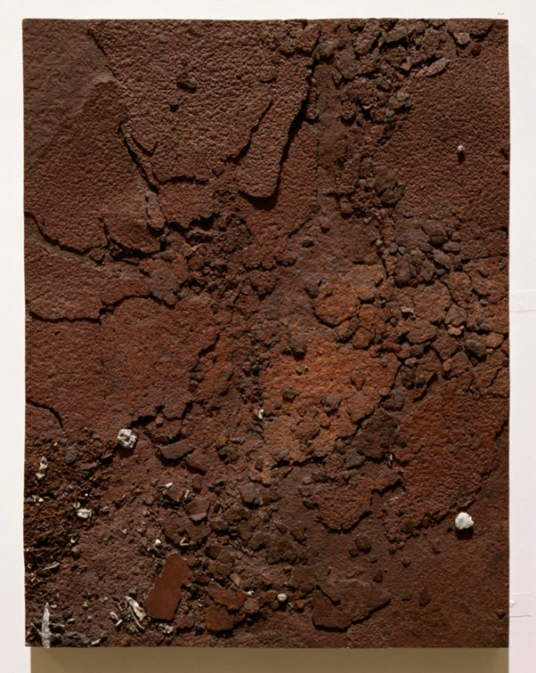 Study of Rusting Metal Plate, 2001/2. Mixed media, resin and fibreglass