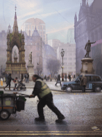 Emily Allchurch: Albert Square, Manchester (after Valette), 2015Collection Manchester Art Gallery