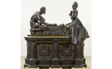 'A Royal Game' 1906-11 (bronze, wood and stone) by Sir William Reynolds-Stephens