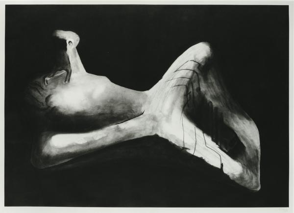 Reclining Figure in Dark Landscape, 1979/80