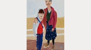 Self Portrait with Esme on the Promenade, 2014. Courtesy the artist and Victoria Miro Gallery. © Chantal Joffe