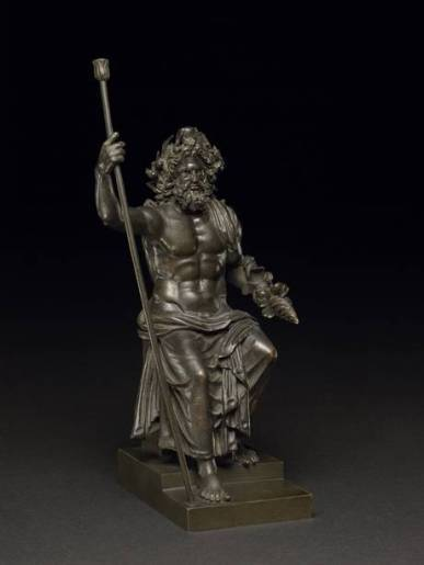 A bronze statuette of Zeus