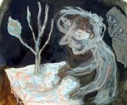 Untitled (W9), 1996, encaustic, 37.5 x 44.5 cm