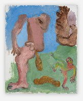 Sequence No.57, Excrement, c.1990, acrylic on paper, 68 x 55 cm