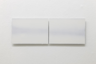 A K Dolven, A4 double horizon, 2014. Oil on aluminium. Photo: Stuart Whipps