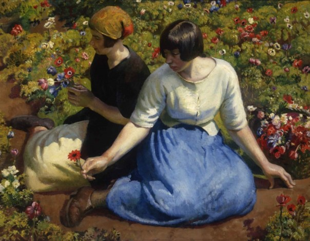 Harold Harvey, 'Anemones' 1926, Private Collection
