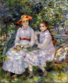 The daughters of Paul Durand-Ruel, Marie-Thérèse and Jeanne, Pierre-Auguste Renoir. Oil on canvas, 1882. (Picture: Chrysler Museum of Art, Norfolk, Virginia)
