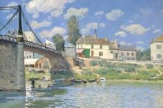 The Bridge at Villeneuve-la-Garenne, Alfred Sisley. Oil on canvas, 1872. Picture: Lent by The Metropolitan Museum of Art