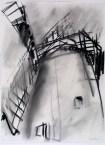 Dennis Creffield, Bembridge Windmill, Isle of Wight, 1990, charcoal on paper, 76 x 56 cm, © Dennis Creffield, courtesy James Hyman Gallery, London