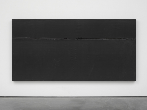 An established occupation, 2014. Wood, rubber and tar. Photo: Ben Westoby