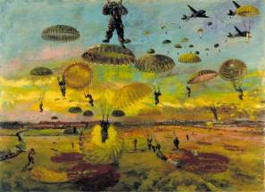 The Drop, 1944. Oil on panel, 54.9 x 75.2 cm. IWM (Imperial War Museums)