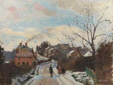 Fox Hill, Upper Norwood, 1870 by Camille Pissarro. Photograph: © National Gallery, London