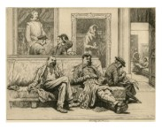 The National Gallery, 1925. Etching. 22.4 x 28.8 cm. Private Collection / © Stanley Anderson Estate.