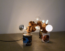 'Coconut Lamps,' GuytonWalker, Coconuts, electric wiring, lightbulbs, 2005