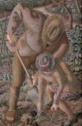 Gardening, c.1945. Oil on canvas, 76.2 x 50.8 cm. Leeds Museums and Galleries